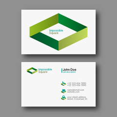 Impossible square business card