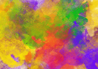 Artistic Rainbow Colors Splash Watercolor Background