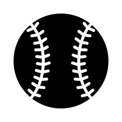 Baseball flat icon for sports apps and websites
