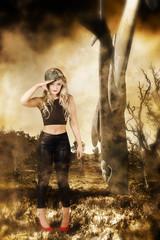 Tough Australian pin-up girl. Spirit of the ANZAC