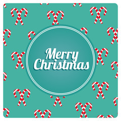 Merry Christmas pattern over color background