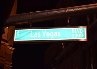 ラスベガスの道路標識