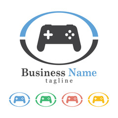 Game Icon Logo Vector With Five Colors Options