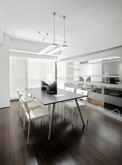 Clean and elegant office environment