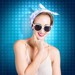 Elegant pinup woman wearing classic retro fashion