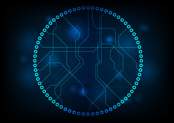 Dark technology circuit board vector design