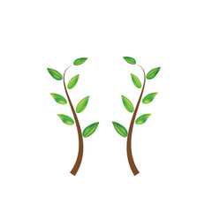 leaf vector illustration green nature leaves isolated background
