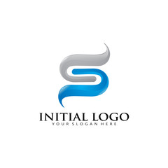 3D Initial S Infinity Logo Icon