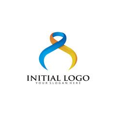 Infinity Ribbon Logo Icon
