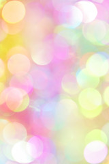 Colored blurry defocused background with bokeh effect