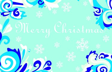 Christmas card with frosty patterns