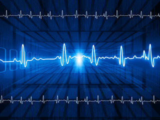 ECG Electrocardiography, medical and healthcare background