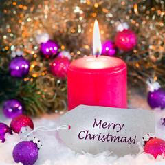 Merry christmas, Weihnachtskarte, Grusskarte