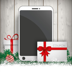 Christmas Gift Smartphone Twigs Baubles Coupon