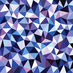 abstract blue color triangle background - vector illustration