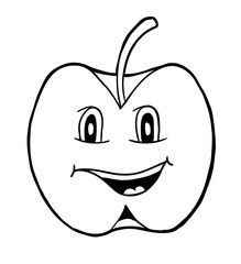 Apple with smile