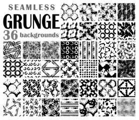 Grunge seamless backgrounds