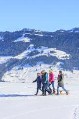 gemeinsamer Spaziergang im Schnee