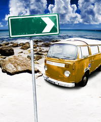Retro Beach Van