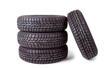 Photo of a winter car tire