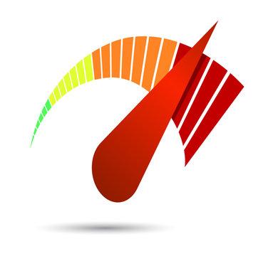 Speedometers or general indicators with needles.