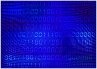 0,1 digits vector wallpaper. blue Binary code background. Digital matrix abstract technology illustration.