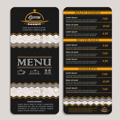 Restaurant or cafe menu. Template design in vector. Vector illustration.
