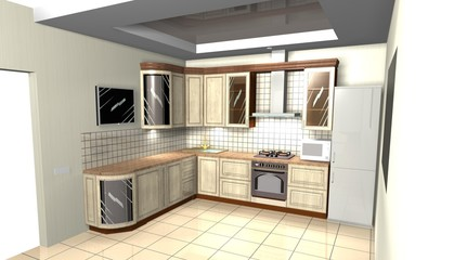 kitchen interior corner