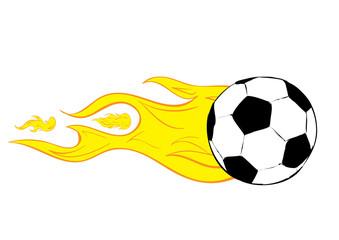 The burning soccerball