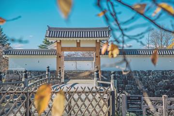 Printed roller blinds Stadion 山形城の秋景色