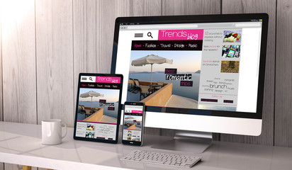 Wall Mural - devices responsive with responsive design