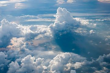 Cumulonimbus cloud bird eye view in the morning over the Andaman