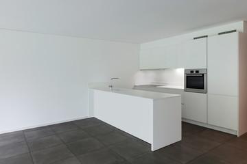 modern apartment, domestic kitchen
