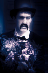 Vintage Man With Flowers