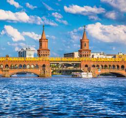 Berlin Oberbaumbrücke, Friedrichshain-Kreuzberg, Germany