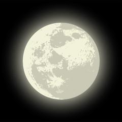 Vector Full Moon