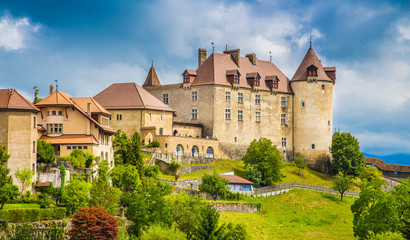 Fototapete - Medieval town of Gruyeres, Fribourg, Switzerland