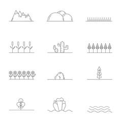 Linear landscape elements
