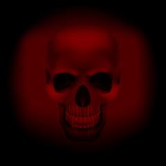 skull vampire on a  dark red background