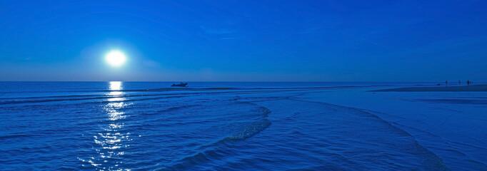 Moonlight over sea in summer