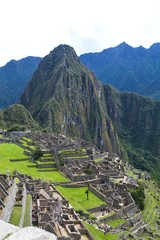 View of the ancient Inca City of Machu Picchu, Peru