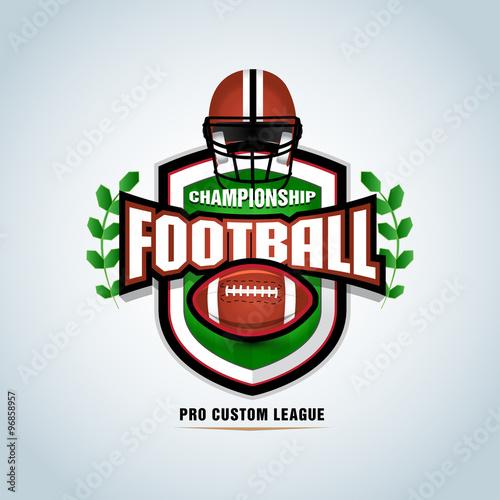 american football logo template badge t shirt label emblem