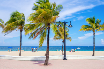 Fort Lauderdale beach in Florida on a beautiful day