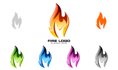 fire, flame, vector logo design,
