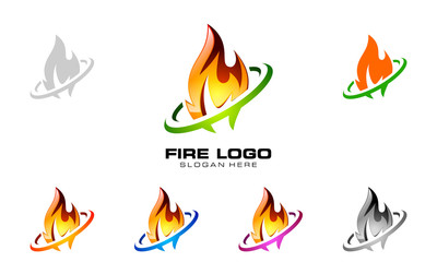 fire, flame, burn, vector logo design