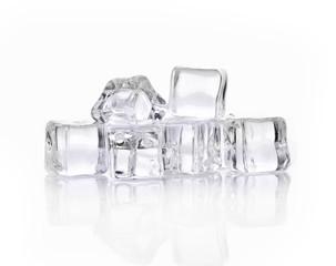Ice cubes  on whited background