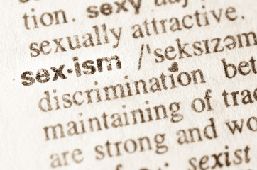 Dictionary definition of word sexism