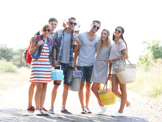 Group of friends on vacation