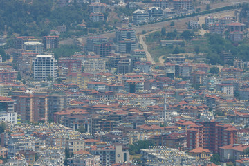 Hauses in the central districts of Alanya. Turkey