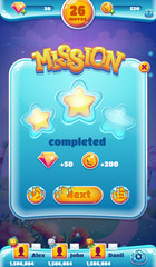 Sweet world mobile GUI mission completed